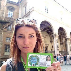 Marta Del Bigo è guida turisica autorizzata per Siena e provincia in italiano, inglese e portoghese. E' disponibile per accompagnare piccoli e grandi gruppi in una visita guidata di Siena.
